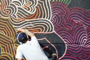 Jet Martinez, Seawalls: Artists for Oceans, Napier, NZ. Photo Credit Emily Raftery