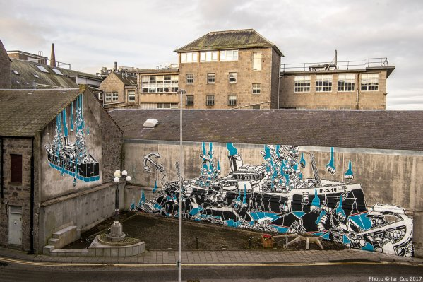 M-City, Nuart Aberdeen Street Art Festival 2017. Photo Credit Ian Cox