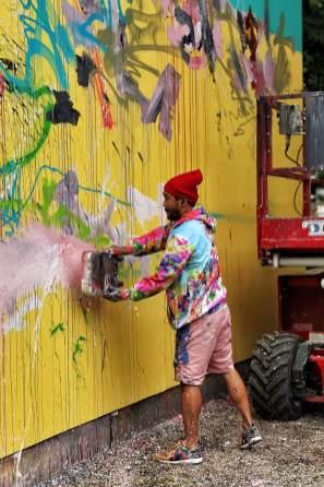 David Choe, Houston Bowery Street Art Wall, New York 2017. Photo credit @just_a_spectator