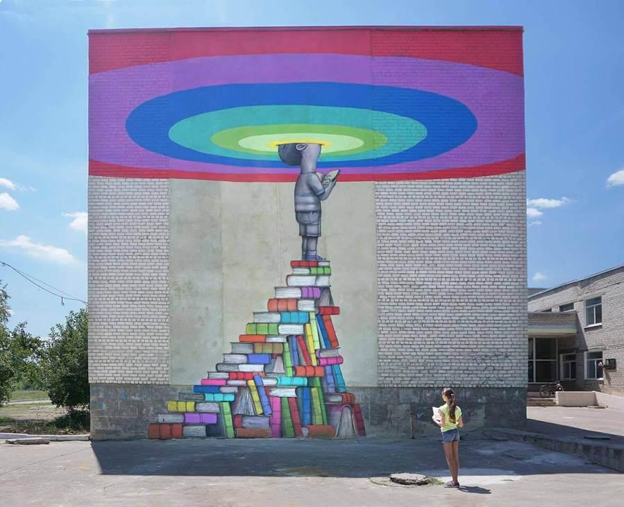 Back to School! Ukraine 2017. Photo credit Mural Social Club