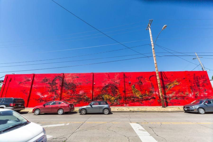 Hua Tunan, 20x21EUG Mural, Street Art Project, Eugene, Oregon 2017. Photo Credit Ben Schorzman