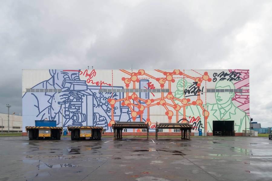 Misha Most, ArtOvrag Street Art Festival, Russia 2017. Photo Credit Artmossphere