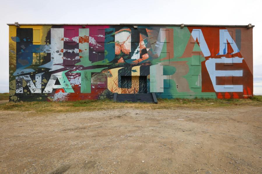 Askew, Pangeaseed Foundation, Sea Walls: Murals for Oceans Street Art Festival Churchill, 2017. Photo Credit Tré Packard