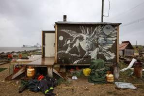 Pat Perry, Pangeaseed Foundation, Sea Walls: Murals for Oceans Street Art Festival Churchill, 2017. Photo Credit Tré Packard