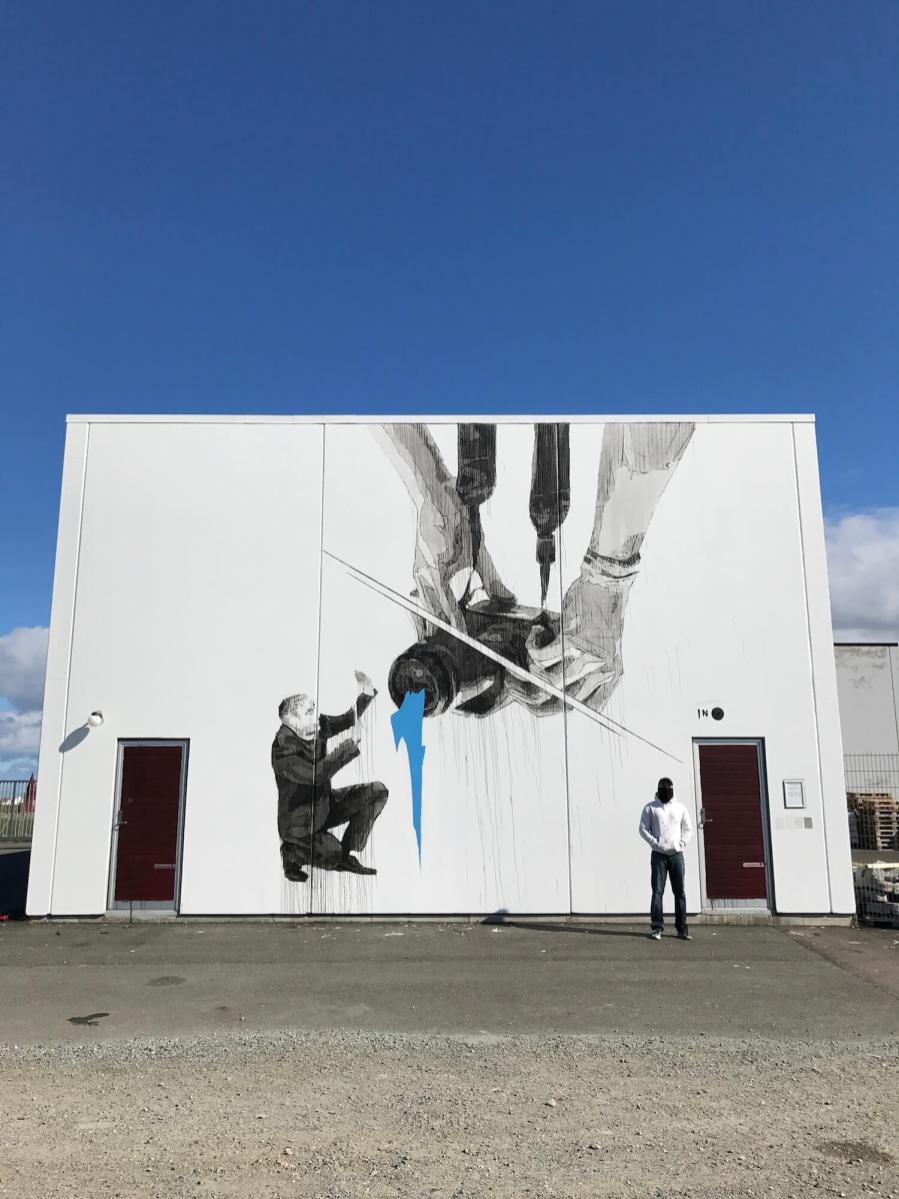 INO, UpNorth Street Art Festival, Røst, Norway 2017. Photo Credit @Toris64
