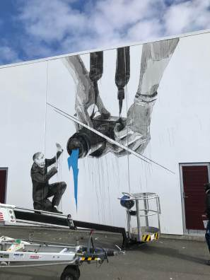 INO, UpNorth Street Art Festival, Røst, Norway 2017. Photo Credit @Toris64