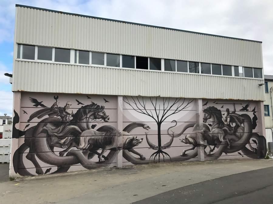 JAZ, UpNorth Street Art Festival, Røst, Norway 2017. Photo Credit @Toris64