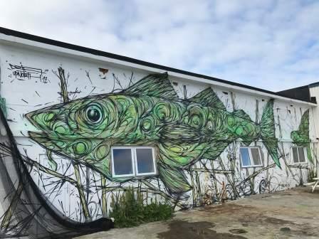 DZIA, UpNorth Street Art Festival, Røst, Norway 2017. Photo Credit @Toris64