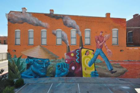 AEC, The Unexpected Urban Art Festival, Fort Smith, Arkansas 2017. Photo Credit JustKids