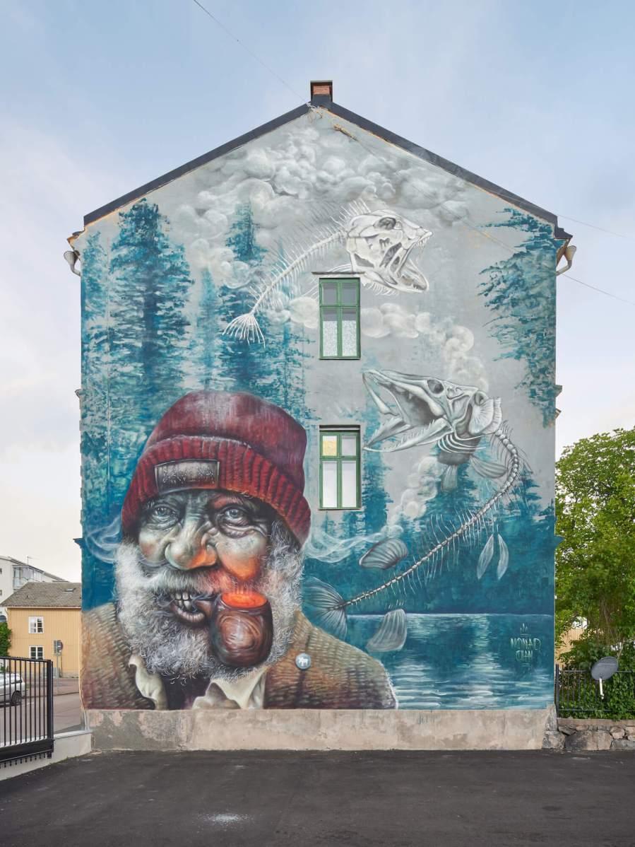 Nomad Clan, Artscape Street Art Festival, White Moose Project, Sweden 2017.
