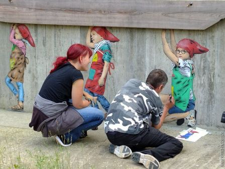 JPS and PZY, Snow White Street Art project, Lohr am Main, Germany 2017. Photo credit Ernst Huber.