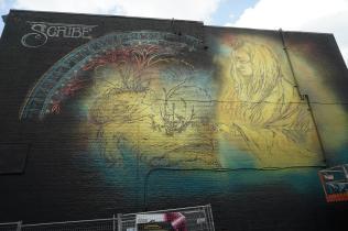 Scribe CSX, Mural International Public Street Art Festival, Montreal, Canada 2017. Photo credit @halopigg