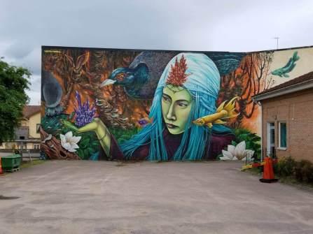 Shalak Attack and Bruno Smoky, Artscape Street Art Festival, White Moose Project, Sweden 2017.
