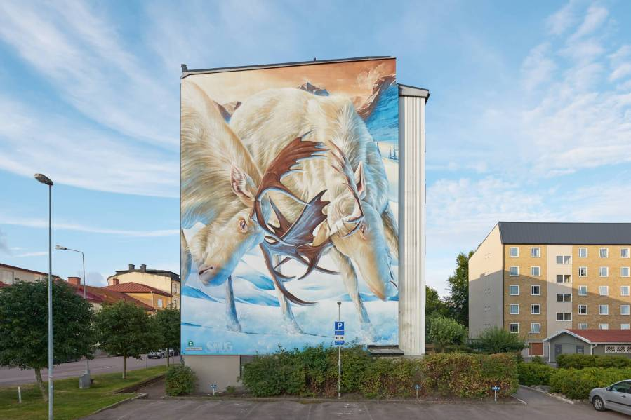 Smug, Artscape Street Art Festival, White Moose Project, Sweden 2017. Photo Credit Anders Lipkin.
