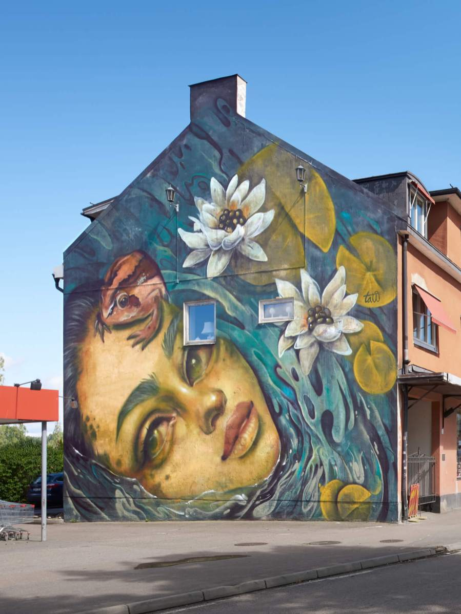Tatiana Suarez, Artscape Street Art Festival, White Moose Project, Sweden 2017.