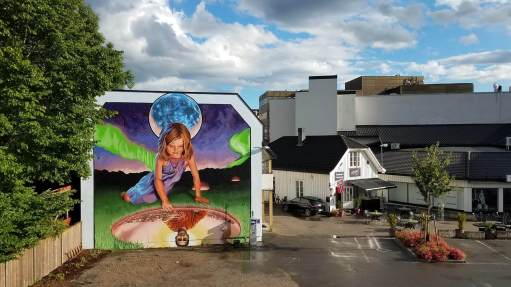 Eric Okdeh, Art for All in the World, Street Art Project, Sandefjord Norway 2017. Photo Credit Art for All in the World.