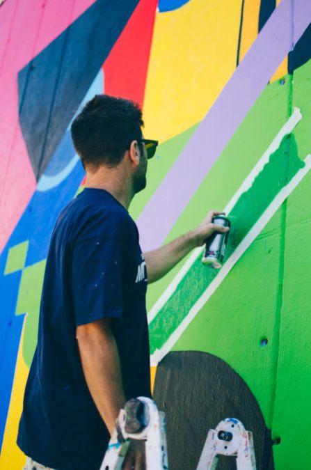 MurOne, Street Art Mural, Video Games, Barcelona 2017. Photo Credit Contorno Urbano Clara Anton.