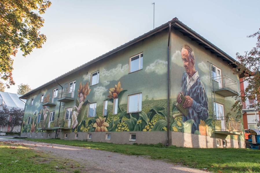 Rustam Qbic, Upea Street art festival, Finland 2017. Photo Credit Suvi Suovaara