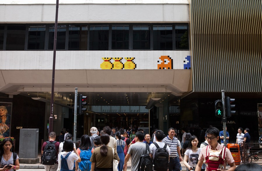 Invader, Space Invasion, Hong Kong 2017. Photo Credit Invader