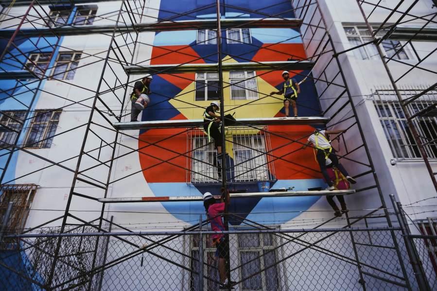 Boa Mistura latest street art 'NIERIKA' in Guadalajara, Mexico 2017. Photo Credit Marte Merlos