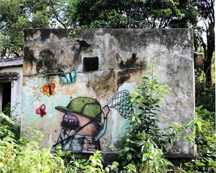 Hunting, Ador, Street Art Réunion. Photo credit Ador 2018