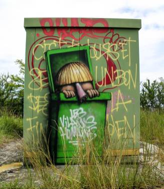 Human villains, Ador, Street Art Réunion. Photo credit Ador 2018