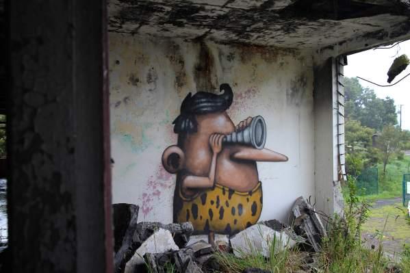 Long Voyeur, Ador, Street Art Réunion. Photo credit Ador 2018