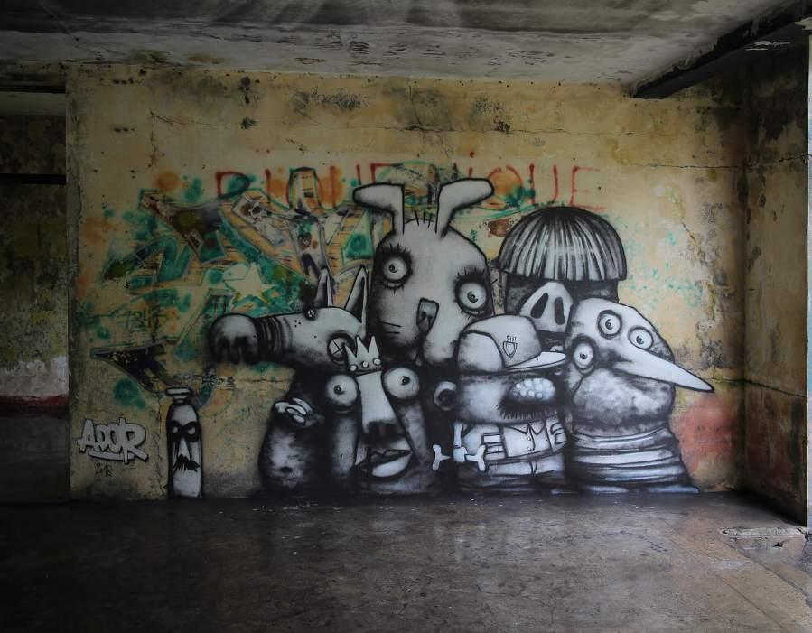 The Family, Ador, Street Art Réunion. Photo credit Ador 2018
