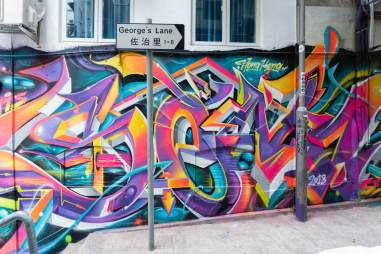 HKWalls Street Art Festival, Hong Kong 2018. Photo Credit Daniel Murray