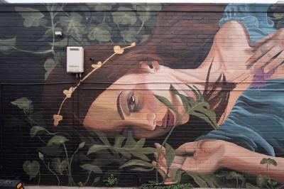 Loretta Lizzio, The Big Picture Fest, Street Art Festival, Frankston, Victoria, Melbourne. Photo Credit @vanstheomega