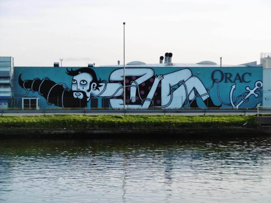 Joachim, The Crystal Ship, Urban Art Festival 2018. Photo Credit Joachim