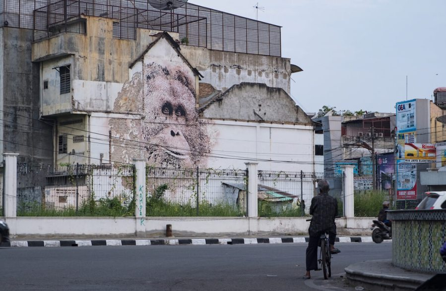 Vhils, Splash & Burn 2018. Photo Credit Ernest Zacharevic