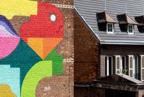 Oli B, Kaleidoscope Street Art Festival, Dendermonde, Belgium 2018. Photo Credit Henrik Haven