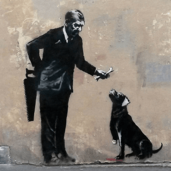 Banksy, Stencil art, Paris 2018. Photo credit Banksy