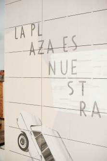 "Escif, ""LA PLAZA ES NUESTRA"" (The square is ours) MURAL, Sant Feliu de Llobregat, Barcelona 2018. Photo Credit Clara Anton"