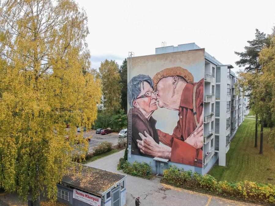Teemu Mäenpää, Street Art Mural, Karakallio, Espoo, Finland. Photo Credit Tomi Salakari