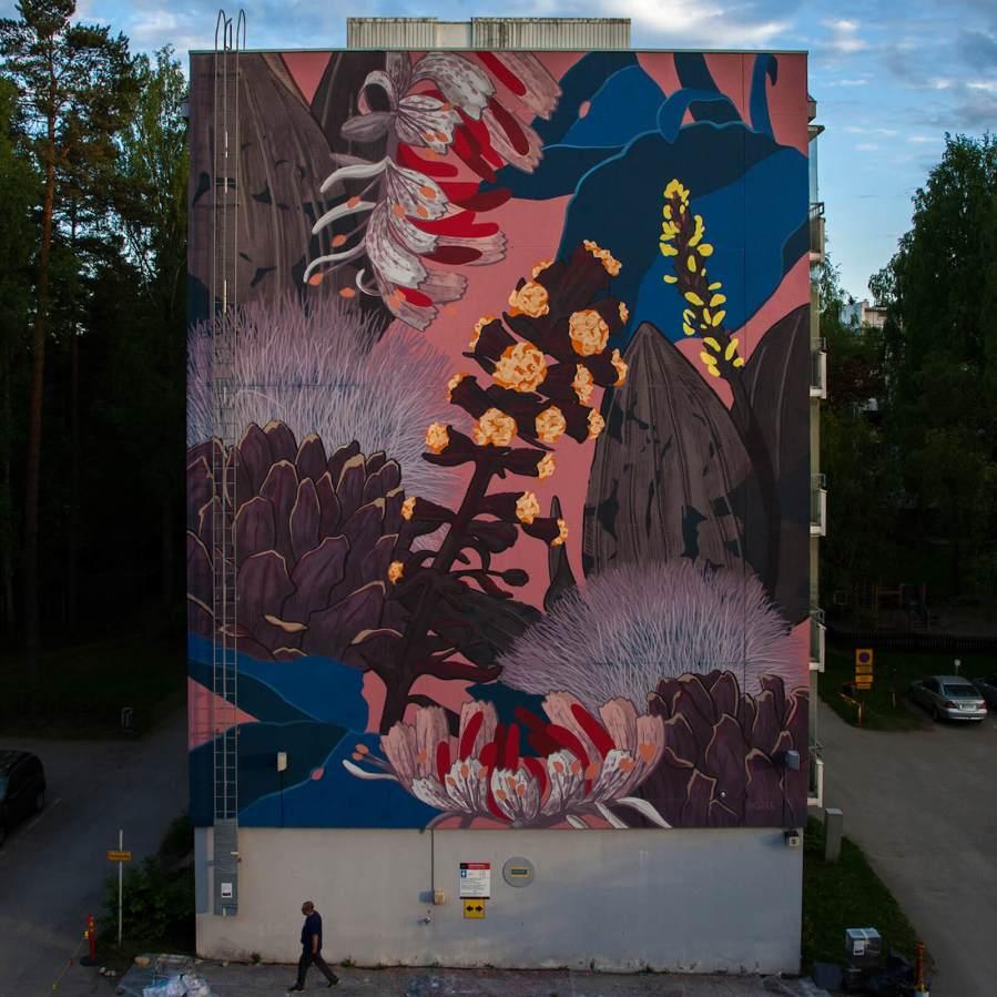 Pastel, Street Art Mural, Karakallio, Espoo, Finland. Photo Credit Pastel