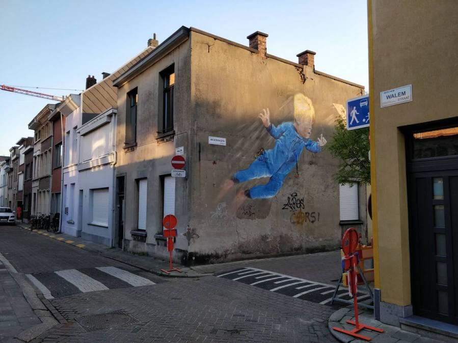 Smok, Will to fly, Street Art Antwerp, Belgium