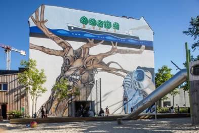 Ben Wagin, Berlin Mural Fest 2018. Photo Credit Berlin Mural Fest