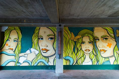 El Bocho, Berlin Mural Fest 2018. Photo Credit Berlin Mural Fest