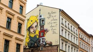 Herakut, Berlin Mural Fest 2018. Photo Credit Berlin Mural Fest
