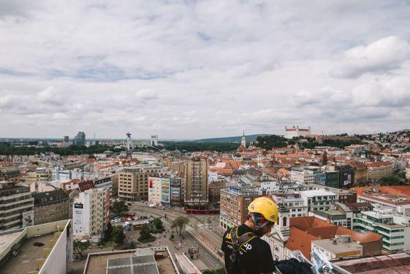 Lousy Auber, Bratislava Street Art Festival Hotel 2018. Photo Credit Jakub Caprnka