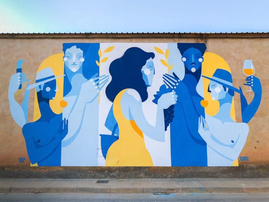 Zësar Bahamonte, Asalto Urban Art Festival, Alfamén 2018. Photo Credit Asalto