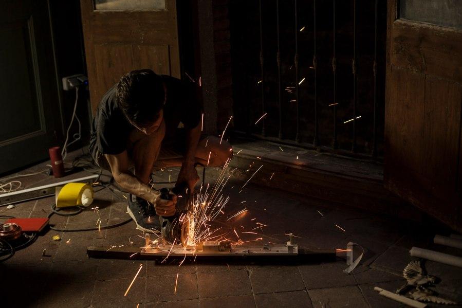 Ernest Zacharevic Works in Progress Photo Credit Vinny Cornelli : Streetlayers.