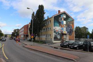 Leon Keer, UPEA Street Art Festival, Finland 2018. Photo Credit Algomas