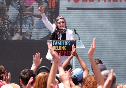Activist Isra Chaker, We The Future. Public speaking