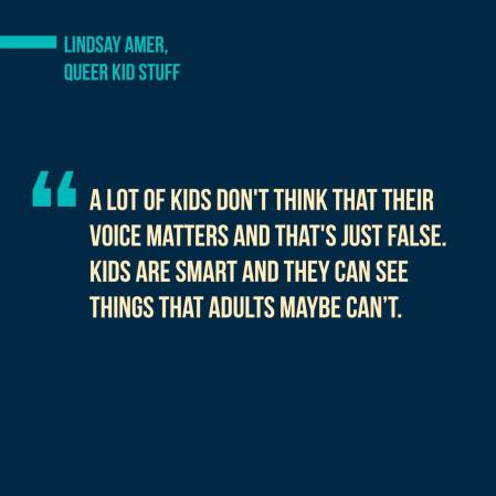 Activist Lindsay Amer, We The Future. Instagram post