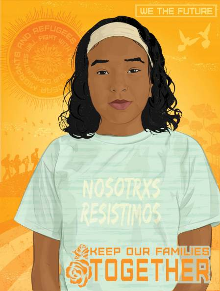 Activist Leah, We The Future. Poster Credit Rommy Torrico