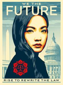 Activist Amanda Nguyen, We The Future. Photo Credit Shepard Fairey