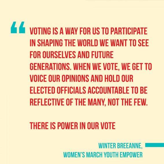 Activist Winter BreeAnne Minisee, We The Future. Instagram post